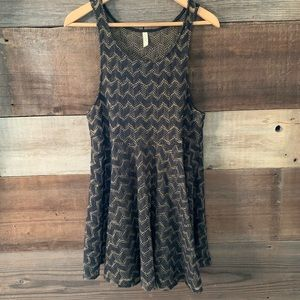 Free People Black Mesh Knit Cover-Up Dress